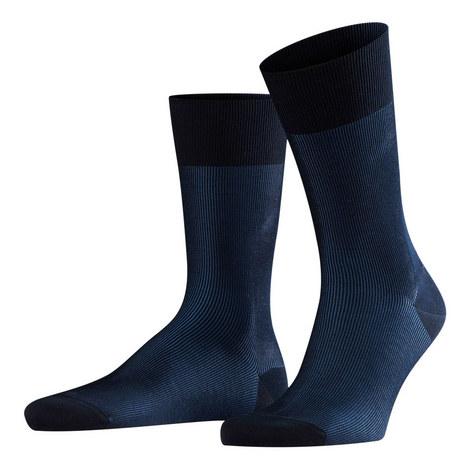 Fine Shadow Stripe Socks, ${color}