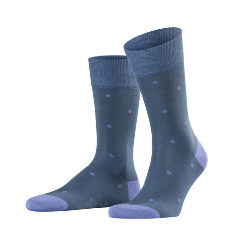 Blue Purple Dot Socks, ${color}