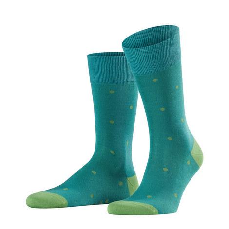 Green On Green Dot Socks, ${color}