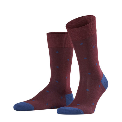 Wine Blue Dot Socks, ${color}