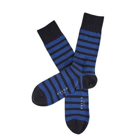 Even Stripe Socks Short, ${color}