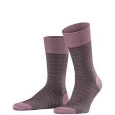Purple Time Tainted Socks
