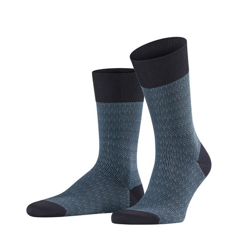 Navy Blue Sensitive Ercolano Socks, ${color}