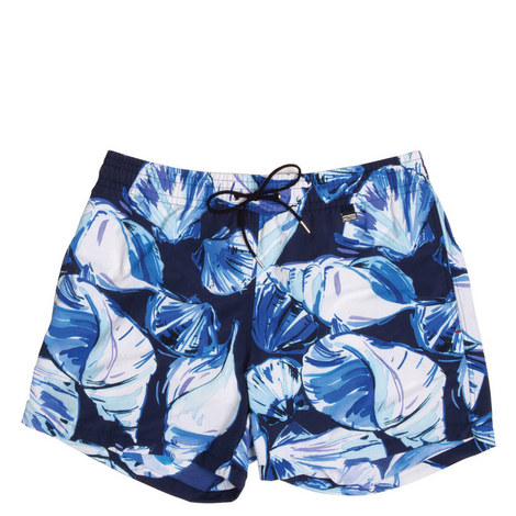Shell Print Swim Shorts, ${color}