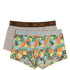 Hibiscus Print Trunks 2 Pack