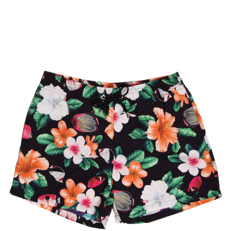 Floral Fish Swim Shorts, ${color}