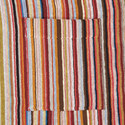 Multi-Stripe Terry Towel Robe, ${color}