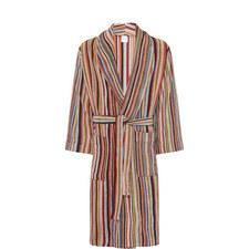 Multi-Stripe Terry Towel Robe
