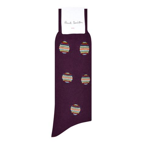 Striped Polka Dot Socks, ${color}