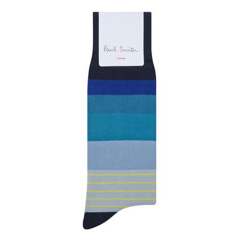 Stripe Cotton Socks, ${color}