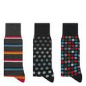 3 Pack Patterned Socks, ${color}