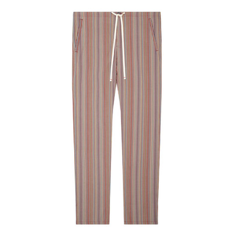 Stripe Straight Fit Pyjama Bottoms, ${color}
