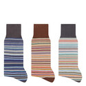 3 Pack Stripe Socks, ${color}