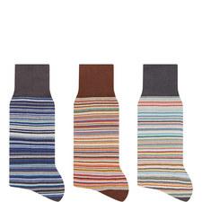 3 Pack Stripe Socks