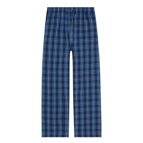 Woven Check Print Pyjama Bottoms, ${color}