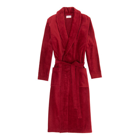 Classic Cotton-Velour Robe, ${color}