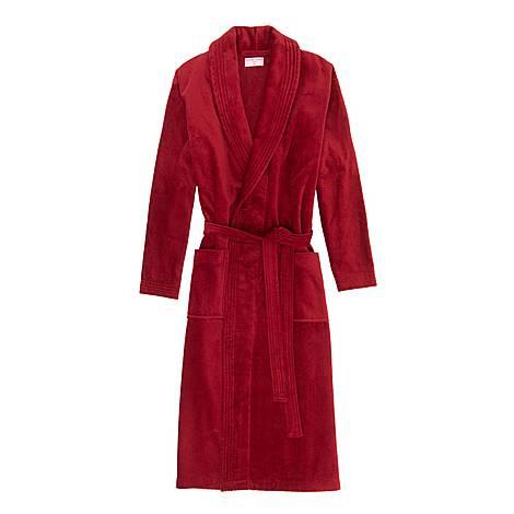 Classic Cotton-Velour Robe, ${color}