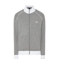 Contrast Trim Zip-Through Jacket