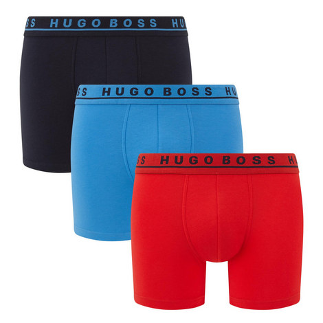 Three-Pack Cotton Stretch Boxer Briefs, ${color}