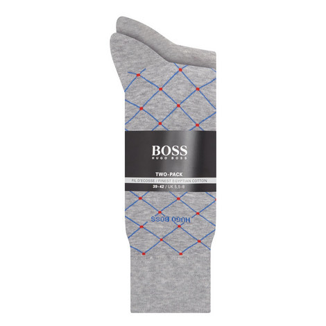 2-Pack Diamond Woven Socks, ${color}