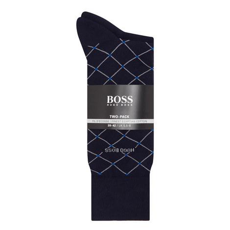 2-Pack Diamond Woven Socks, ${color}