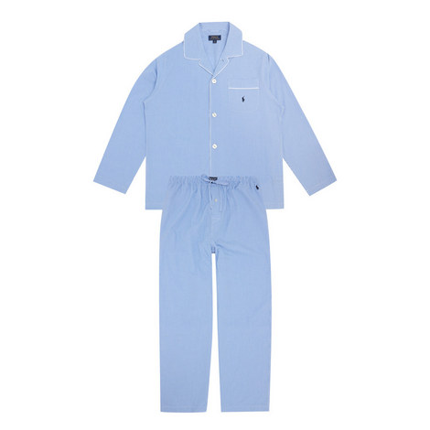 Gingham Cotton Pyjama Set, ${color}