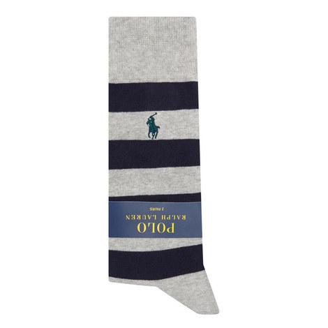 Two-Pack Rugby Stripe Socks, ${color}