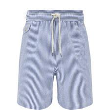 Stripe Print Swim Shorts
