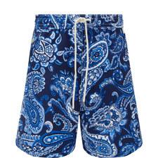 Paisley Print Swim Shorts