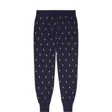 Pony Print Cuffed Pyjama Bottoms