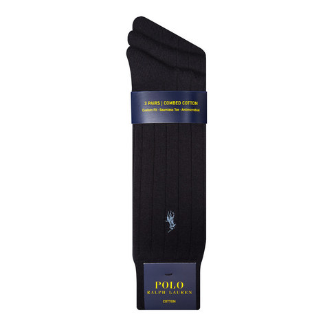 Cotton Trouser Socks 3 Pack, ${color}