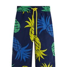Traveller Pineapple Print Swim Shorts