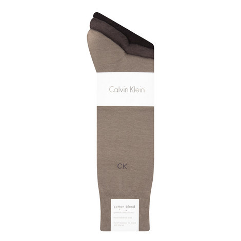 Cotton Blend Socks Three Pack, ${color}