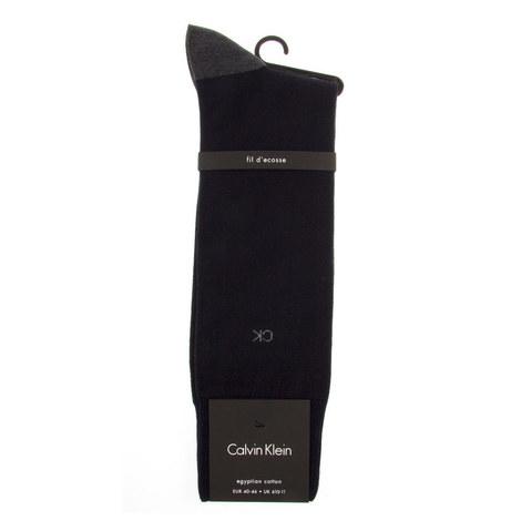 Contrast Toe Dress Socks, ${color}
