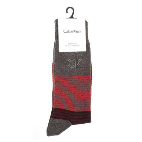 Stripe Logo Socks, ${color}