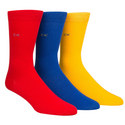 3-Pack Flat Knit Socks Gift Box, ${color}