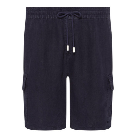 Baie Linen Casual Shorts, ${color}
