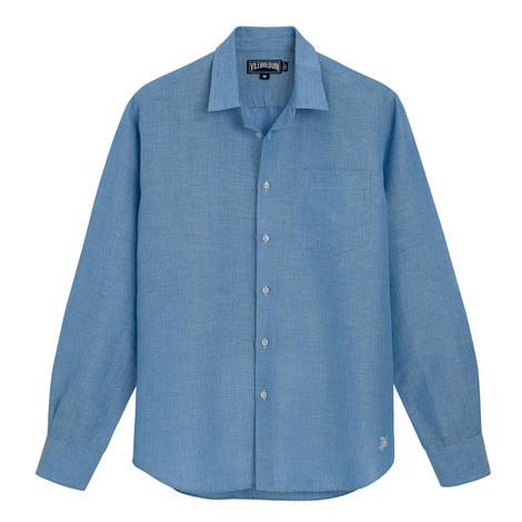 Caroubis Regular Fit Linen Shirt, ${color}
