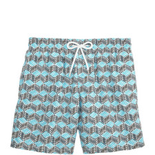 Moorea Cubed Fish Swim Shorts
