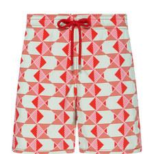 Moorea Poissons Graphiques Swim Shorts