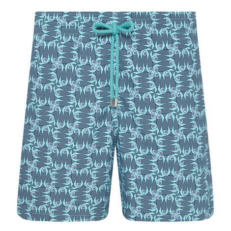 Moorea Poissons Damier Swim Shorts, ${color}