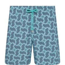 Moorea Poissons Damier Swim Shorts