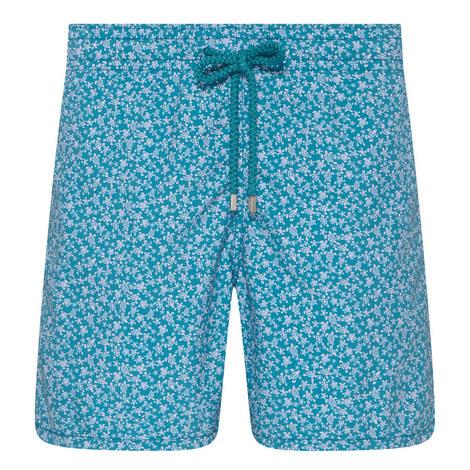 Moorea Micro-Turtle Print Shorts, ${color}