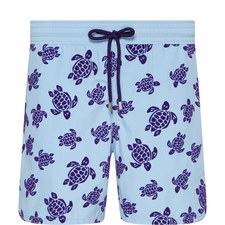 Moorea Flocked Turtle Swim Shorts