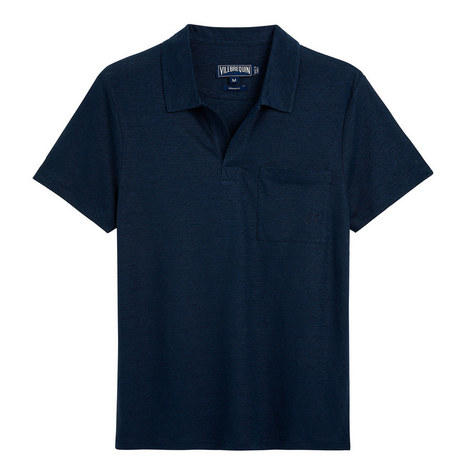 Pyramid Solid Linen Polo Shirt, ${color}