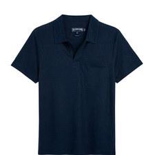 Pyramid Solid Linen Polo Shirt