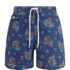 Rose Print Swim Shorts