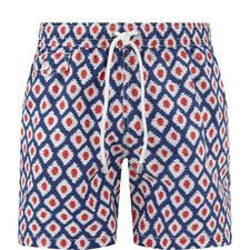 Ikat Print Swim Shorts