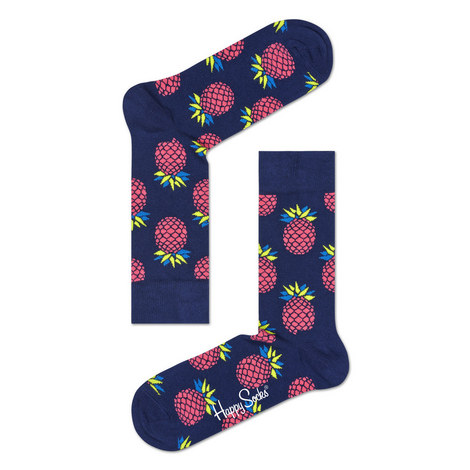 Pineapple Print Socks, ${color}