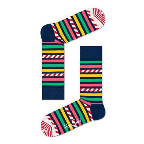 Stripe Print Socks, ${color}